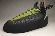 Evolv Defy. Lace, Climbing shoes with lacing, charcoal-lime