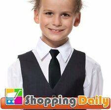 Boy Tie Kids Baby School Boy Wedding Necktie Neck Tie Elastic Solid 5 Colours