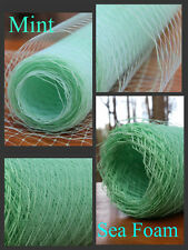 US birdcage netting unique Mint Green shades French/Russian Bridal Veil