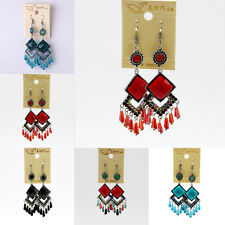 Women Earings Ladies Fashion jewelry Vintage Crystal Dangle Long Tassel Earings