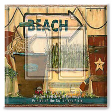 Light Switch Plate Cover Beach Sign Star Fish Rain w/ Rocker Switch or Outlet