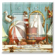 Light Switch Plate Cover Beach Stuff Ball Sail Boat  w/ Rocker Switch or Outlet