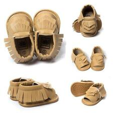 Baby Girls Kids PU Leather Tassel Toddler Soft Prewalkers Sandals Shoes 0-18M