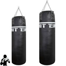 Hanging Kick Boxing Punch Bag Heavy Duty MMA Training Martial Arts Real Leather