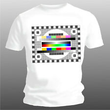 """T-Shirt """"Tv Test Picture"""" # 2, Only White Sizes S XXL (5XL Possible+3)"""