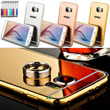 Luxury Fashion Removable Mirror Back Cover + Metal Aluminum Bumper Frame Case