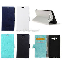 Crocodile Skin Style Leather Flip Stand Folio Wallet Case Cover for Cell Phones