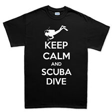 Keep Calm and Scuba Dive Diving Snorkeling Diver Mask Gear T shirt Tee Top