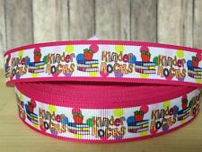 "1, 3, or 5 yards 1"" KINDER ROCKS grosgrain ribbon- FLAT RATE SHIPPING"