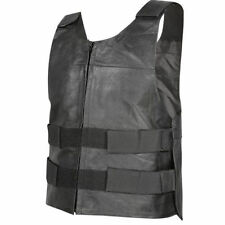 Xelement Mens Bulletproof Style Genuine Leather Motorcycle Vest (S-6XL)