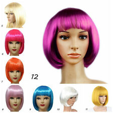 Women Fashion Short Straight Hair Girl's Full Wigs Wig Cosplay Evening Party Wig