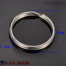 Wholesale Stainless Steel Split Rings Key Rings Jewelry Making Supplies 30x3.6mm