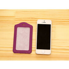 High Quality Vertical ID Badge Holder Vinyl Case Clear with Color Border