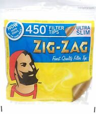 450 ZIG ZAG ULTRA SLIM FILTER TIPS RESEALABLE BAG SMOKING JOB LOT