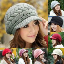 Fashion Womens Lady Winter Warm Knitted Crochet Slouch Baggy Beanie Hat Cap 179