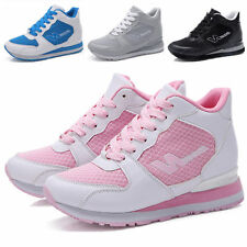 Womens Shoes Breathable Wedge Fashion Sneakers High Heels Sport Tennis Shoes