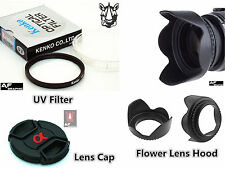 FK23a 55 mm UV Filter + Lens Hood + Lens Cap for Sony Digital Camera Lenses