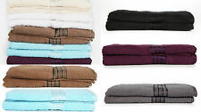 QUALITY 100% PURE EGYPTIAN COTTON BATH TOWELS BALE SETS COMBED COTTON 7 COLOURS