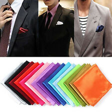 Fashion Men's Formal Solid Silk Suit Pocket Square Handkerchief Kerchief Hanky
