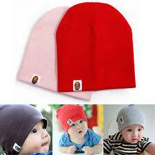 Pk/2 Baby Children Toddler Colorful Infant Soft Cotton Girl Boy Beanies Cap Hats