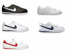 NIKE CORTEZ BASIC LEATHER BLACK WHITE NAVY RED 316418 CLASSIC RUNNING SHOE MEN