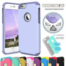 Hybird Shockproof Rugged Gel PC Back Case Cover for Apple iPhone 6&6s 4.7/Plus+