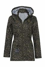 New Trance Khaki Womens Ladies Hooded Hoodie Mac Fishtail Jacket Coat Sizes 8-24
