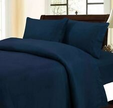 100% Pure Egyptian Cotton 1000TC All Sizes Bedding Items Navy Blue