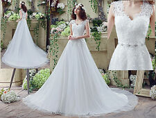 New White/ivory Wedding dress Bridal Gown custom size 4-6-8-10-12-14-16