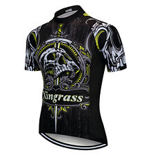 Green Men's Cycling Top Team Racing Cycle Jersey Mountain Bike MTB Jersey Shirt