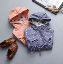 Baby Girl Trench Coat Girls Hooded Outerwear Toddler Spring Jacket Kids Clothing