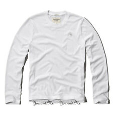 NEW ABERCROMBIE & FITCH for MEN * A&F Meacham Lake Long Sleeve Tee T Shirt White