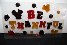 "Window Gel Art, Thanksgiving Fall Collection ""Be Thankful"""