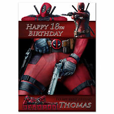 054; Personalised Birthday card; Deadpool; for any age name relationship