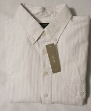 NWT J.CrewVintage Oxford Popover Shirt Mineral Grey Stripe Size Extra Small XS