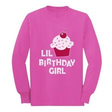 Lil Birthday Girl Gift Idea - Birthday Party Cupcake Long sleeve kids T-Shirt