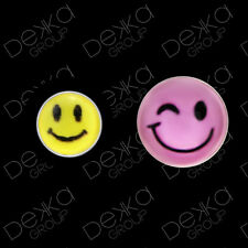 925 Sterling Silver Smiley Face Stud Earrings Emoji Emoticon Girls Women Men