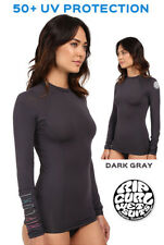 Rip Curl Women's Rashguard Coast to Coast Long Sleeve 50+ UV Protection Gray