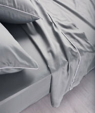 NEW Sheet Set Flat Sheet Fitted Sheet Pillowcase Set 100%Cotton Sateen CINDER