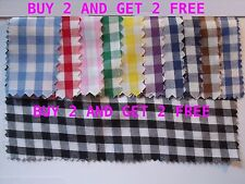 Gingham POLYCOTTON FABRIC - 1/4 Inch / per FAT QUARTER