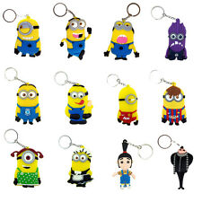 """Despicable Me Character Rubber Key Chain Ring Holder Double-faced Optional 3"""""""