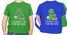 Dinosaur KIDS T Shirt I am going to be a big brother GIFT Present Cute T Rex