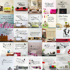 DIY Removable Art Vinyl Wall Sticker Decal Mural Home Room Decor Quote Word Poem