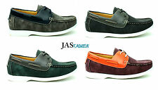 MENS NEW DECK BOAT SHOES FASHION CASUAL LACE UP FAUX SUEDE DESIGNER UK SIZE 6-12