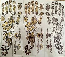 INDIAN MEHNDI BODY ART TEMPORARY STICK ON TATTOO SHEET BOLLYWOOD 2 HAND
