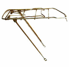 Vintage Sprung Rear Bicycle Pannier Luggage Rack Steel Silver 3-Bolt Fitting