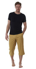 Mens Quality 100% Cotton Cropped 3/4 Trousers Summer Shorts Slim Chino Pants