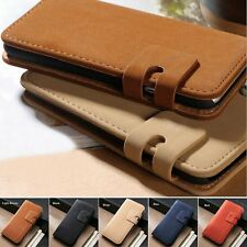 Leather Flip Stand Wallet Card Holder Holster Case Cover For iPhone 5&5s SE 4&4s