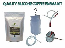 COFFEE ENEMA STARTER KIT  - QUALITY SILICONE ENEMA BAG - AUSTRALIA GERSON GRINDS
