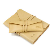 Envelope Wrap Style Leather Notebook Cover and Pencil Case Set Travel Case